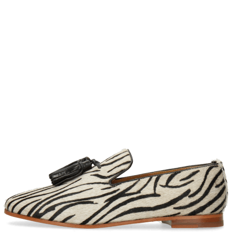 Loafers Scarlett 20 Hairon Young Zebra Black Tassel