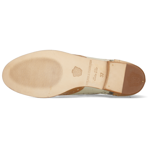 Oxford schoenen Sonia 1 Vegas Sabbia Talca Platin Glove Nappa Ivory Snake