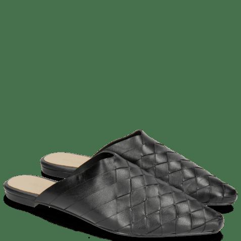 Muiltjes Alexa 12 Woven Nappa Black