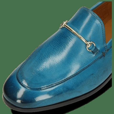 Loafers Scarlett 22 Pisa Turquoise Trim Gold