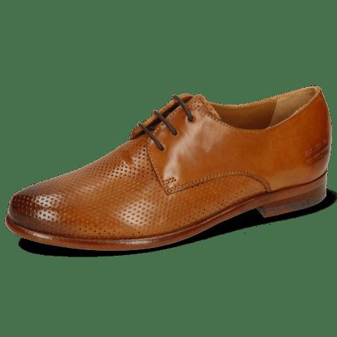 Derby schoenen Selina 23 Pavia Perfo Tan