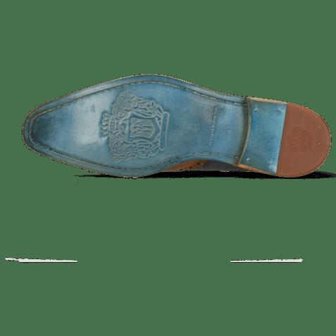 Derby schoenen Martin 15 Berlin Tan Perfo Navy