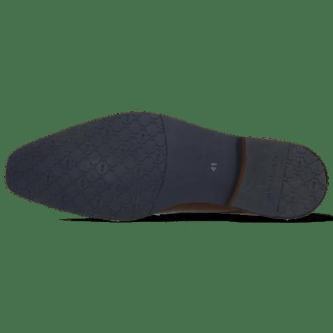Derby schoenen Xabi 3 Venice Lizzard Wood M&H Rubber Navy