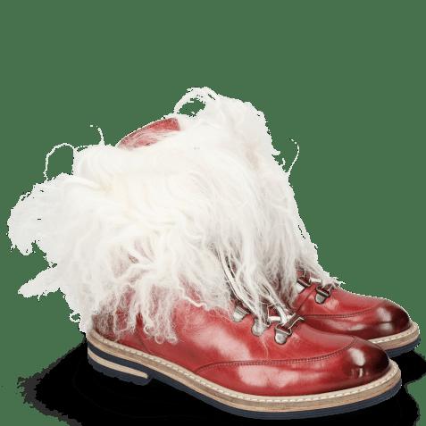 Enkellaarzen Amelie 73 Ruby Fur Mongolian White