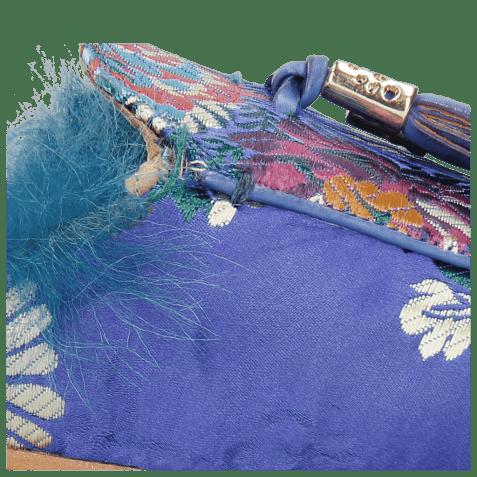 Muiltjes Scarlett 2 Korela Electric Blue Fur