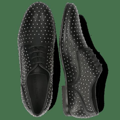Derby schoenen Sonia 10 Nappa Black Rivets