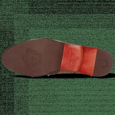 Oxford schoenen Selina 24 Cognac Sand Marine Winter Orange