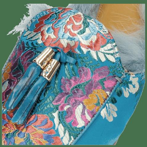 Muiltjes Scarlett 2 Korela Turquoise Fur Lining