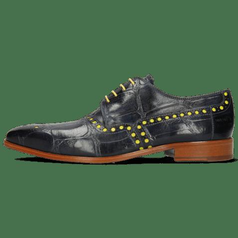 Derby schoenen Lance 66 Galap Navy Underlay Fluo