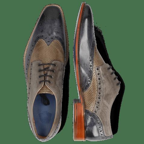 Derby schoenen Martin 15 Berlin Moroccan Blue Perfo Stone