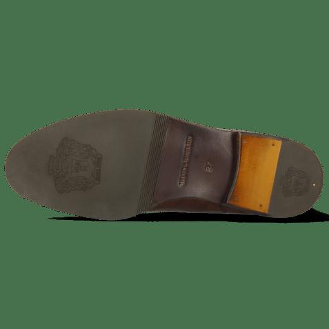 Enkellaarzen Susan 69 Turtle Dark Brown Textile Brina Mokka