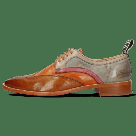 Derby schoenen Betty 16 Pavia Tan Arancio Oxygen Lilac Satellite