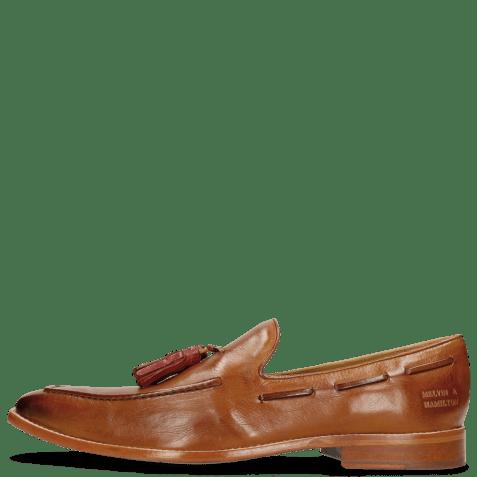 Loafers Leonardo 1 Pisa Tan Tassel Ruby