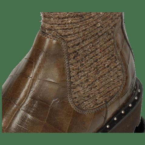 Enkellaarzen Susan 69 Turtle Taupe Textile Brina
