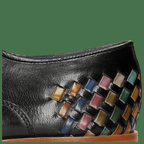 Oxford schoenen Lewis 17 Classic Black Interlaced Multi