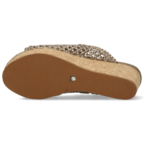 Muiltjes Hanna 57 Woven Pewter Cork
