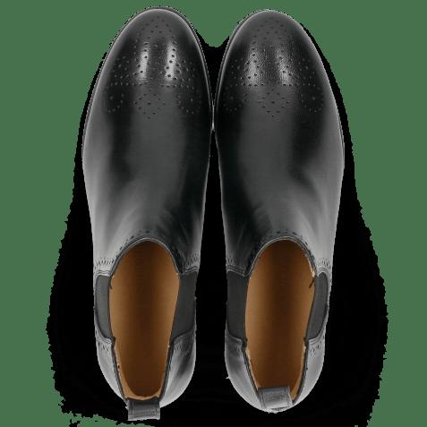 Enkellaarzen Sally 16 Salerno Black Elastic Black HRS