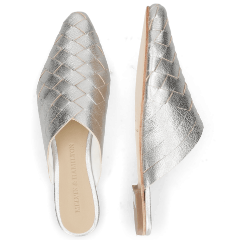 Muiltjes Alexa 12 Woven Cherso Silver Mint