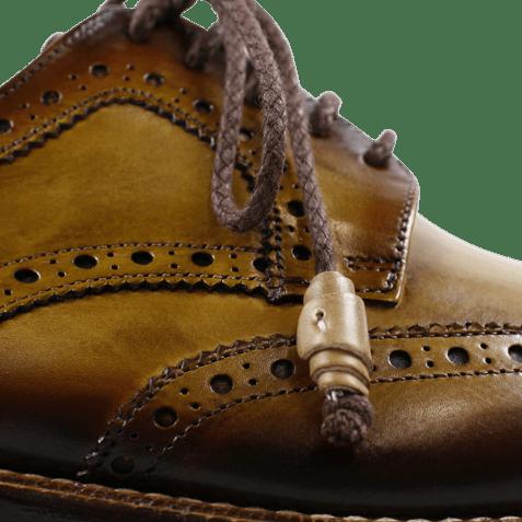 Derby schoenen Marvin 1 Cedro Toe Shade Dark Brown LS Gold
