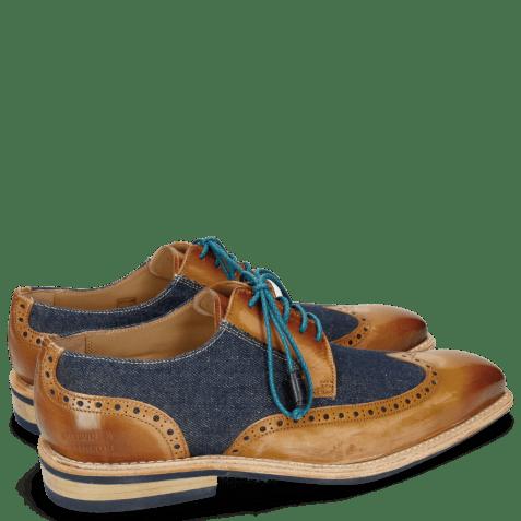 Derby schoenen Marvin 13 Tan Denim Blue Modica