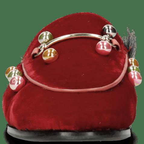 Muiltjes Scarlett 4 Velluto Ruby Small Bubbles