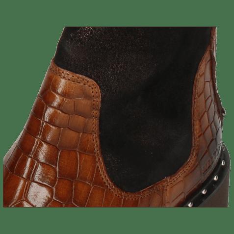 Enkellaarzen Susan 69 Crock Mid Brown Textile Prisma Bronze
