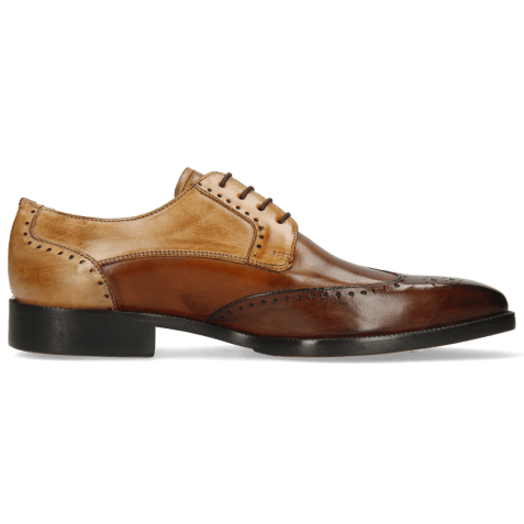 Derby schoenen Jeff 14 Mid Brown Wood Tan Sand Nude