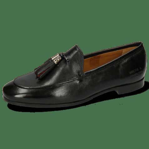 Loafers Scarlett 48 Pisa Black Accessory Gold Black Ruby