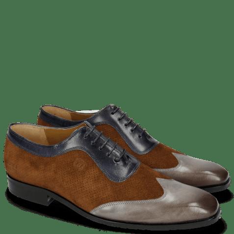 Oxford schoenen Rico 8 Rio Stone Ciliago Suede Touch Perfo Navy