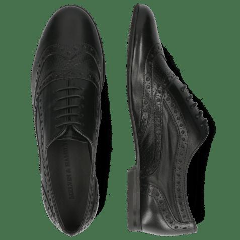 Oxford schoenen Sonia 1 Nappa Perfo Black LS