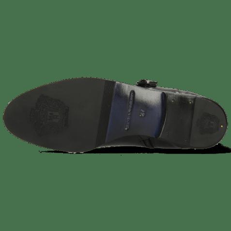 Enkellaarzen Susan 45 Soft Patent Black Rivets Buckle