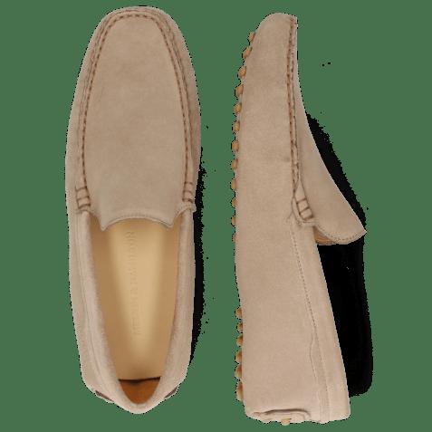 Loafers Nelson 1 Suede Pattini Tortora