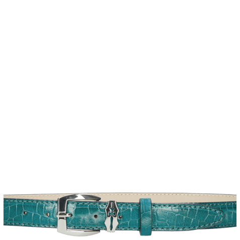 Riemen Linda 1 Crock Turquoise Sword Buckle