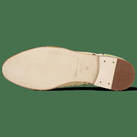 Oxford schoenen Selina 56 Vegas Verde Chiaro Beige Margarine Hairon Wildcat