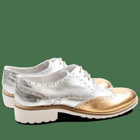 Oxford schoenen Ella 22 Laminato Gold Silver Rook D White