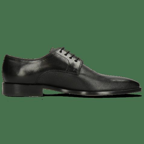 Derby schoenen Alex 1 Venice Pebble Black