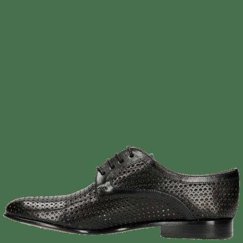 Derby schoenen Sally 17 Venice Perfo Diamont Black