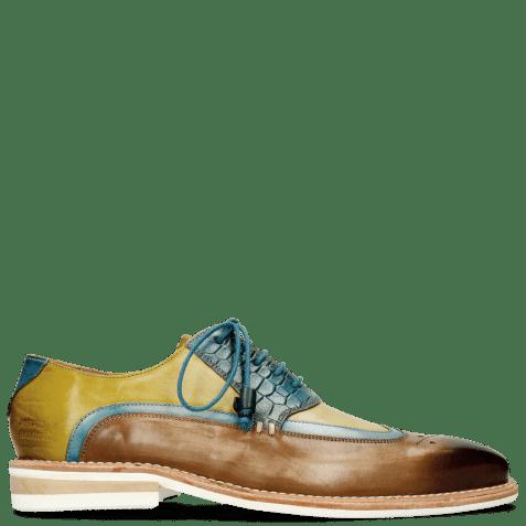 Derby schoenen Marvin 12 Mid Brown Bluette Sol
