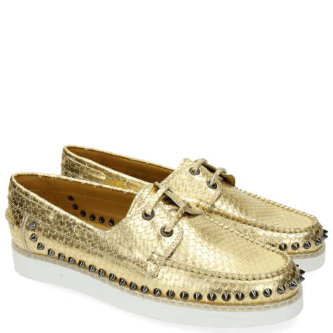 Loafers Ally 1 Metalic Scale Gold