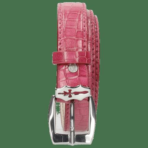 Riemen Linda 1 Crock Dark Pink Sword Buckle