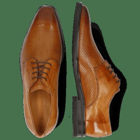 Derby schoenen Alex 1 Berlin Perfo Tan