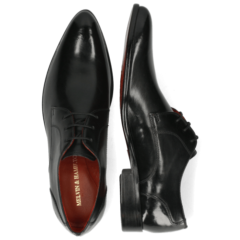 Derby schoenen Toni 1 Black Lining Red