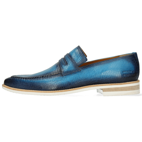 Loafers Leonardo 4 Vegas Skink Washed Turquoise Shade Navy