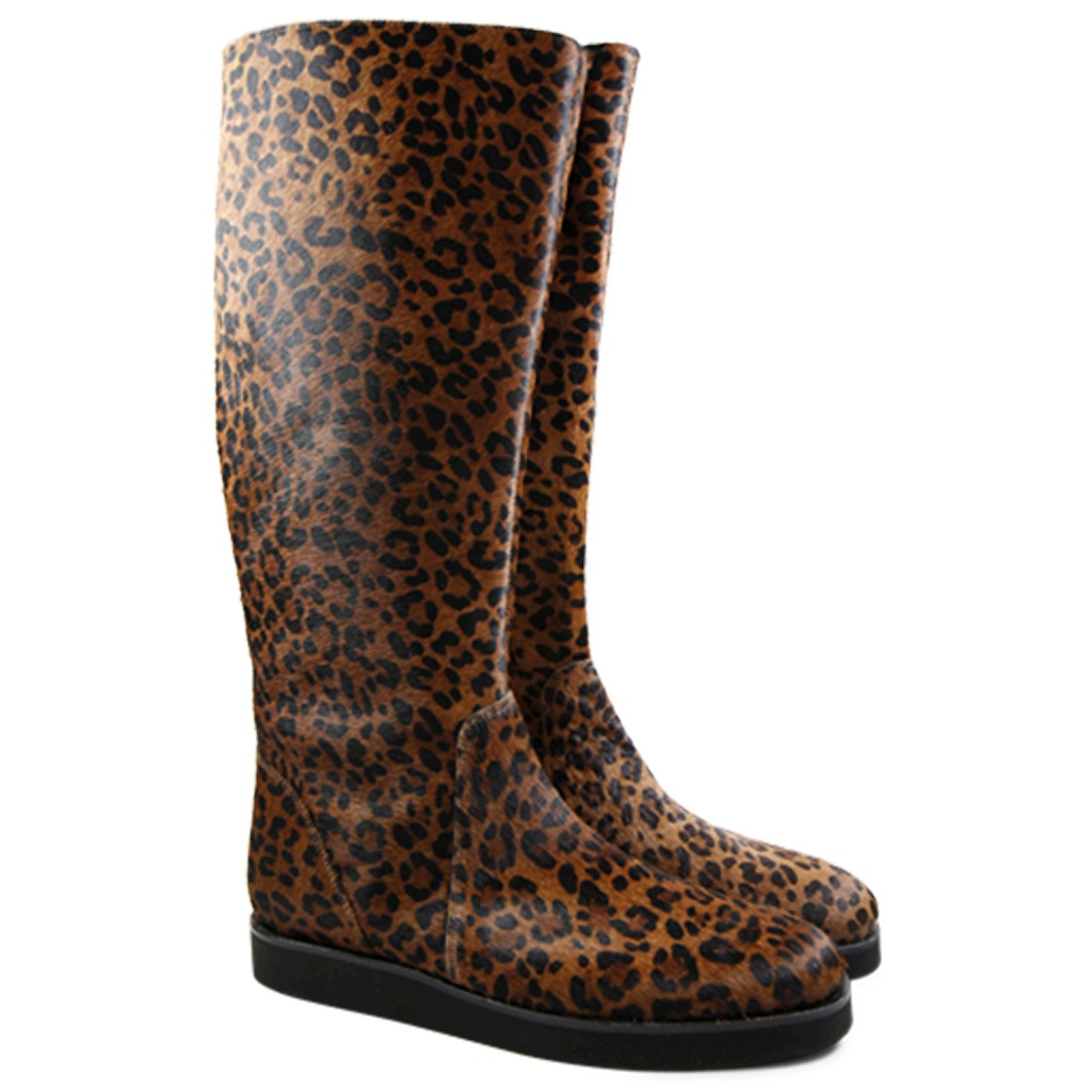 neu melvin hamilton damen fell stiefel susan 7 mit leopard muster ebay. Black Bedroom Furniture Sets. Home Design Ideas