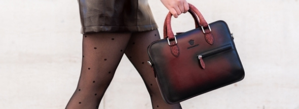 Leather handbag Vancouver by Melvin & Hamilton