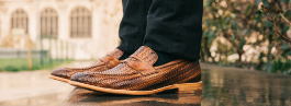 Woven leather shoes Men Melvin & Hamilton
