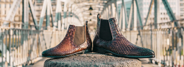 Woven leather shoes know how Melvin & Hamilton