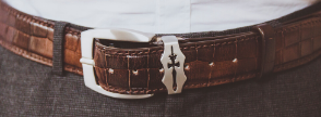 Leather belts Melvin & Hamilton