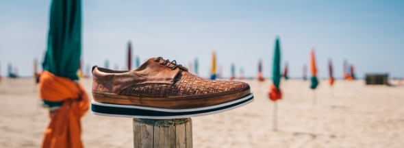 Woven leather shoes Melvin & Hamilton