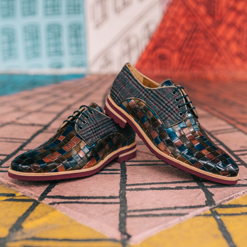 Chaussures en cuir tressé Melvin & Hamilton